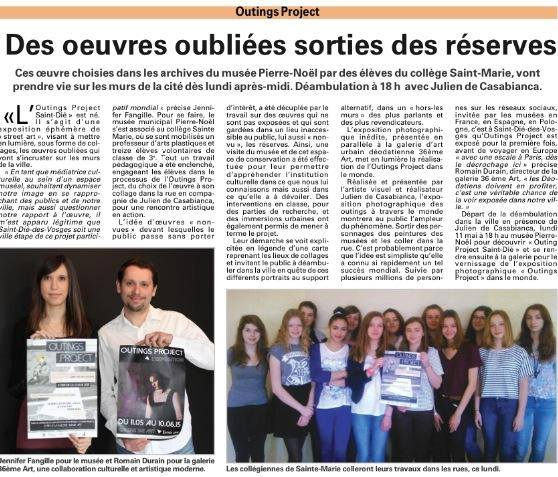 ARTICLE GALERIE OUTINGS COLLEGE